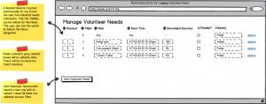 Specify Volunteer Needs - CiviVolunteer