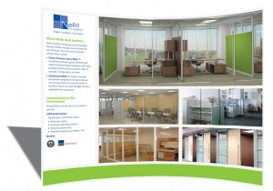 Tradeshow booth design for Nello Wall Systems