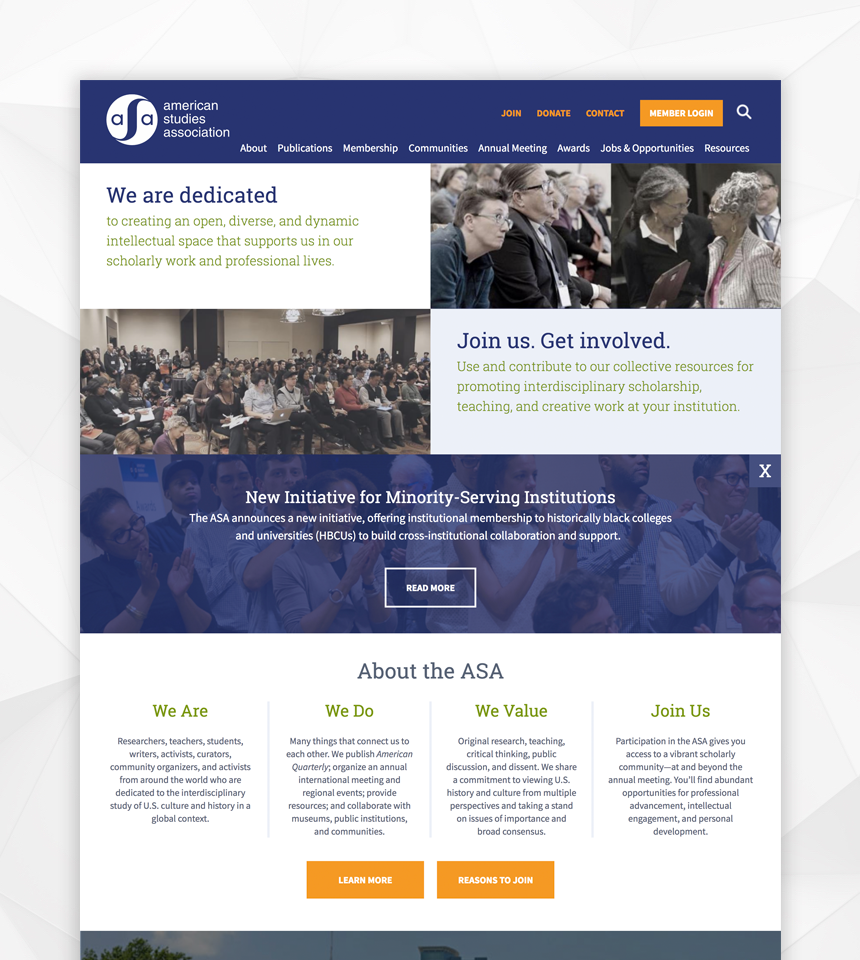 American Studies Association Drupal Website
