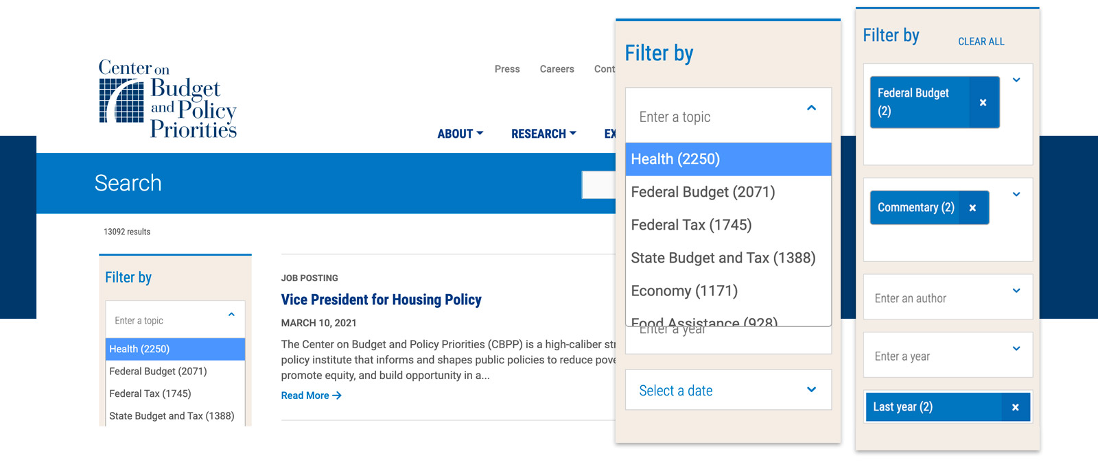 A snapshot of the Provider landing page in TCP's website