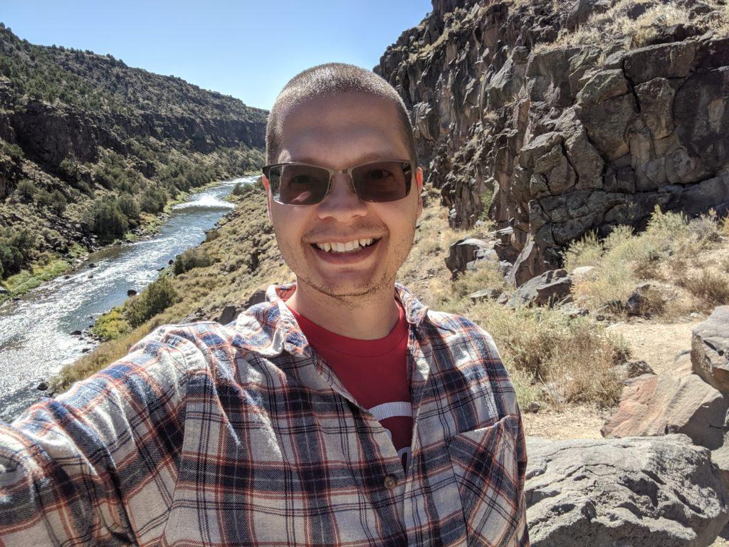 Elliott Mina somewhere in the wilds of New Mexico