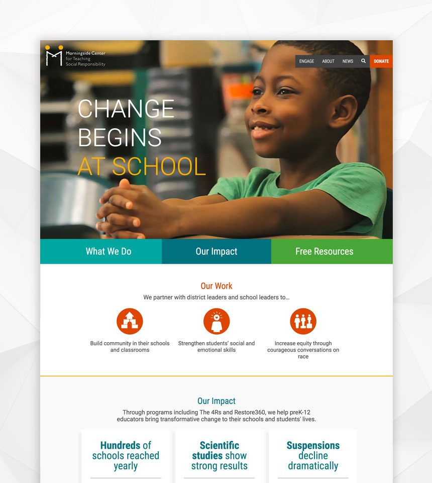 Morningside Center for Teaching Social Responsibility Drupal 8 Website
