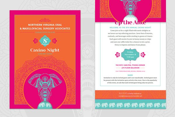 NVOMSA Annual Casino Night - Print Design by Confluence