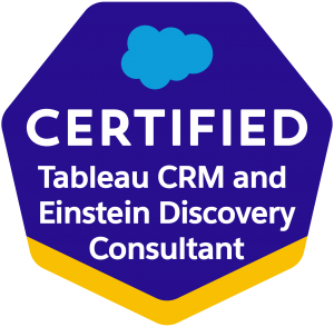 Tableau CRM and Einstein Discovery Consultant
