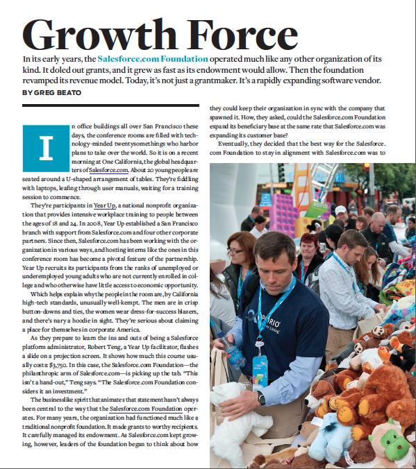 Growth Force - An Inside Look at One Organization by Greg Beato / Stanford Social Innovation Review