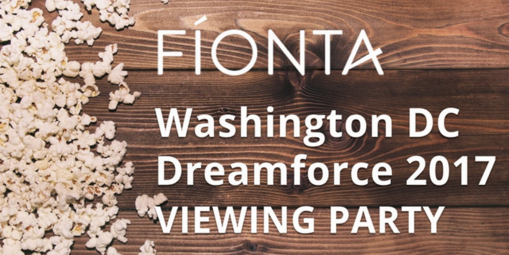 Join Fíonta and other DC Nonprofits As We Live Stream From Dreamforce 2017