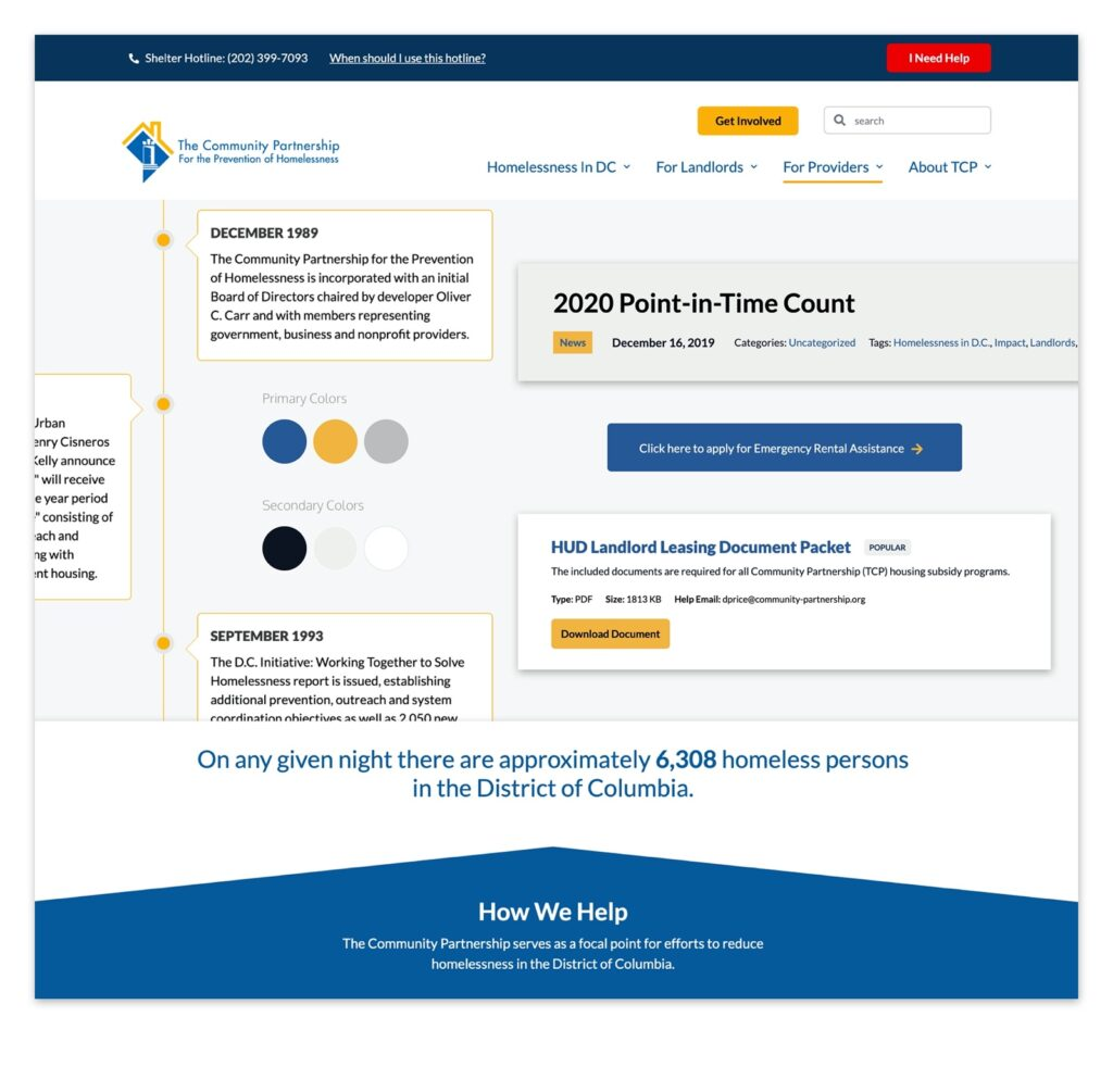 Design styles used on the new TCP website