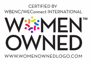 Certified by WBENC/WEConnect International as a Women Owned Business