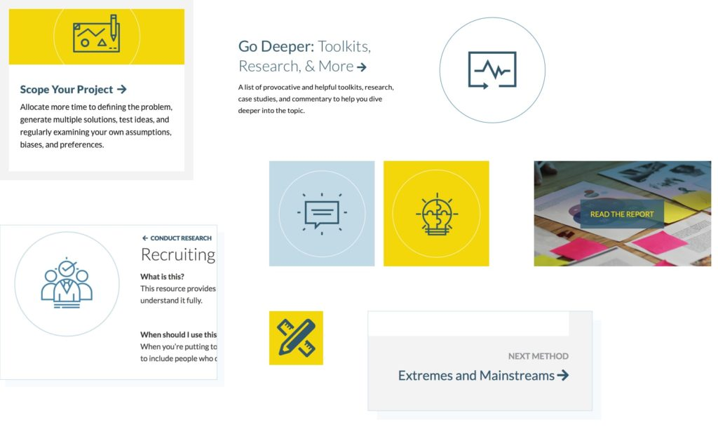 Pattern library for Bellwether redesigned website