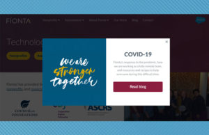 User Interface Options for Driving Traffic to COVID resource pages