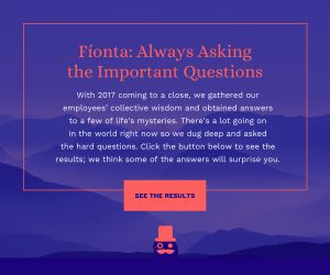 A visual data holiday greeting from Fionta!