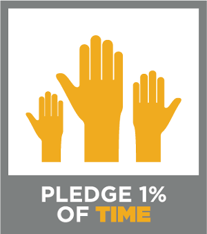 Pledge1 Time Badge