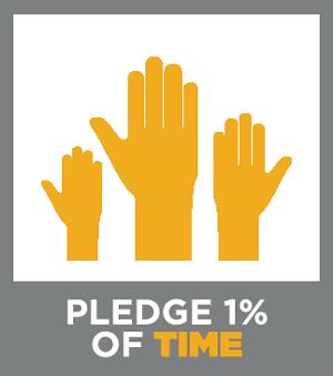 Pledge1 Time Badge